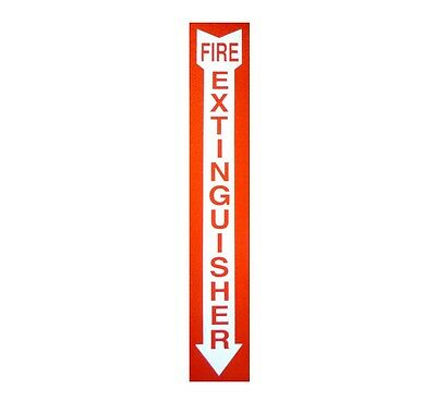 "Fire Extinguisher  2"" X 12"" Screen Printed 3M Reflective Decal Sticker"