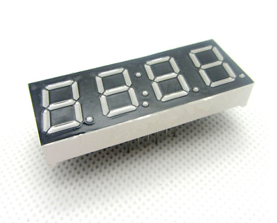 LED Display 7 Segment 4 Digit 0.56 inch Red Common Cathode with Colon