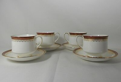 Paragon Holyrood-Red Set of 4 Cups and Saucers