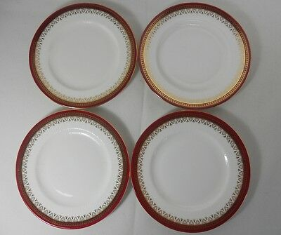 Paragon Holyrood-Red Set of 4 Bread & Butter Plates (Utensil Marks)