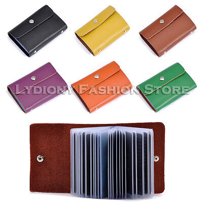 Genuine Leather Business Name ID Credit Card Holder Wallet Office Organiser Lady