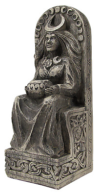 Seated Moon Goddess Statue - Stone Finish - Dryad Designs - Wiccan Wicca Pagan