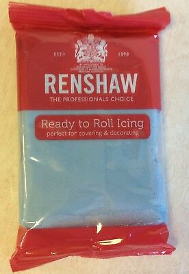 250g BABY BLUE Renshaw Regalice / Decorice - roll out sugarpaste / icing