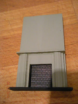 "Dollhouse Mini 1/4"" Scale Fireplace With Over-Mantle"