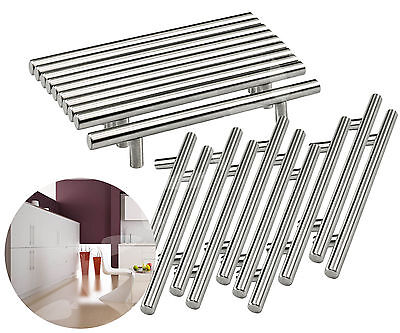 20 Pcs 128mm Stainless Steel T Bar Handle Kitchen Cup Board Cabinet Door w/Screw
