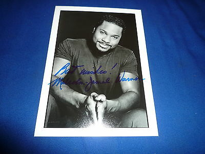 MALCOLM-JAMAL WARNER signed Autogramm In Person 13x18 cm BILL COSBY Show THEO