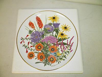 Vtg Franklin Mint Flowers Of The Year Le Fine Bone China September Plate