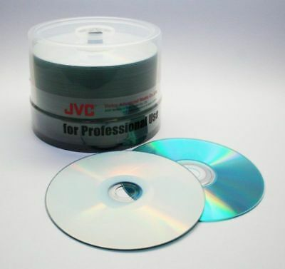 JVC (Taiyo Yuden) 50 pack CD-R 52x 80min Silver Watershield Inkjet Printable