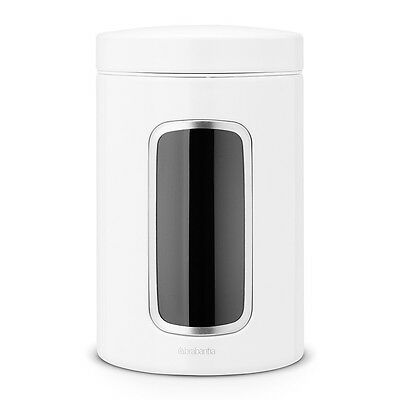 Brabantia White 1.4 Litre Window Canister Tea Coffee Sugar Pulse Pasta Rice