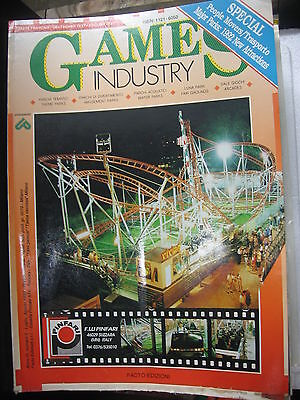 Rivista Games Industry Luglio Agosto 1992 English  Games Industry Jamma Juke-Box