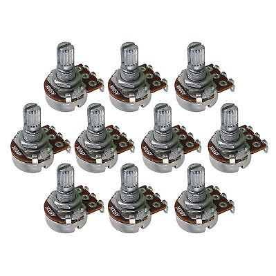 10pcs A500K Guitar Pots Tone Switch Pots 15mm Split Shaft Small Potentiometers