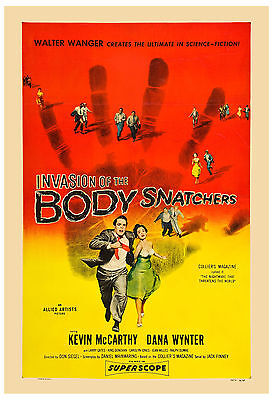 1950's Sci-Fi  *  Invasion of the Body Snatchers *  Movie  Poster 1956