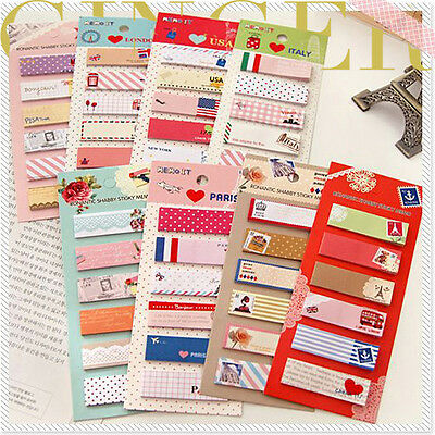 Lovely Post It Bookmark Writing Marker Memo Flags Index Notepad Tab Sticky Notes