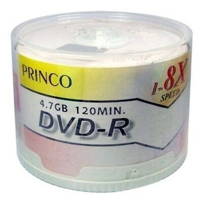 200 Princo 8X White Top DVD-R Blank Disc 4.7GB Free Expedited Shipping