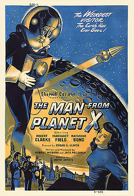1950's Sci-Fi  * The Man from Planet  X  *  Alternate Version Movie  Poster 1951