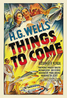 1930's Sci-Fi  * Things To Come  *  Movie  Poster 1936