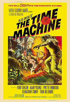 1960's Sci-Fi  * The Time Machine  *   Movie  Poster 1960