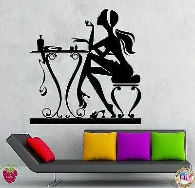 Wall Stickers Vinyl Decal Hot Sexy Girl  Beauty Hair Barbershop Spa Salon  ig069