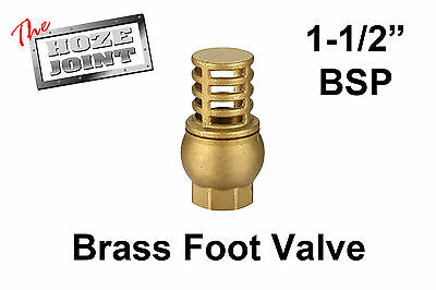 "Foot Valve - 1-1/2"" (40mm) BSP Female Thread - Brass - Strainer"