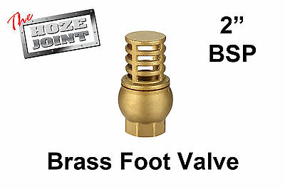 "Foot Valve - 2"" (50mm) BSP Female Thread - Brass - Strainer"
