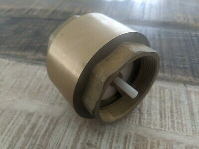 "Spring Check Valve - 3"" (80mm) - Brass - One Way Valve"