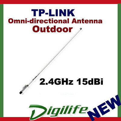 TP-Link TL-ANT2415D 2.4GHz 15dBi Outdoor Omni-directional Antenna N-Type Connect
