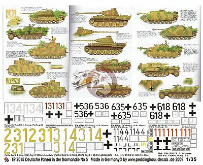 Peddinghaus 1/35 German Tiger I Tank Markings Normandy 1944 WWII ...