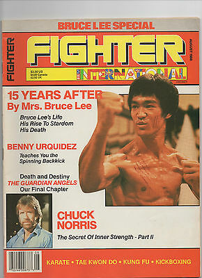 Fighter -*bruce Lee Special*-- Martial Arts Magazine August 1988 *rare*