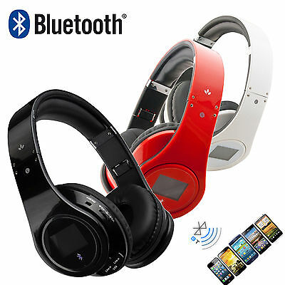Universal Bluetooth HiFi Headset Stereo Kopfhörer Kabellos MP3 Player FM Radio