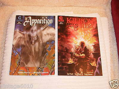 COMIC BOOKS (CALIBER) SET OF TWO  *** THE APPARITION and KILROY IS HERE **