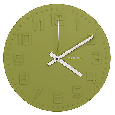 DecoMates Home Kitchen Non-Ticking Silent Wall Clock - Assorted Colors