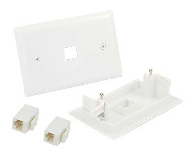 Cat6 RJ45 Ethernet Easy Fix Wall Plate Kit Inline Coupler