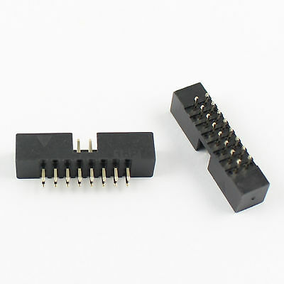 10Pcs 2mm 2x8 Pin 16 Pin Straight Male Shrouded PCB Box header IDC Connector