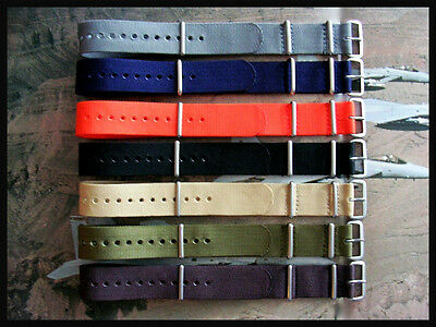 20mm NATO g10 Ballistic Military watchband strap Bonded IW SUISSE 16 18 19 22 24