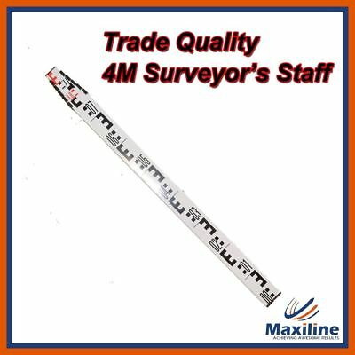 4M 6 Sections Heavy Duty Aluminum Staff Staves for Dumpy Level Laser Level