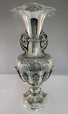 Stunning Sterling silver Flower vase Very Tall heavy Italian gorgeous design 925