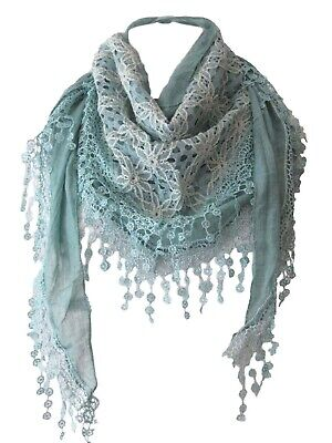 STUNNING lace crochet triangular scarf, wrap top, cape, shawl NEW 15+ colours
