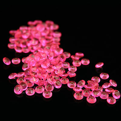 WEDDING PARTY TABLE SCATTER DIAMOND CRYSTALS DECORATION- 1000pcs hot pink 10mm