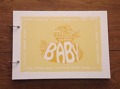 Alternative record signing handmade naming ceremony baby boy girl guest book