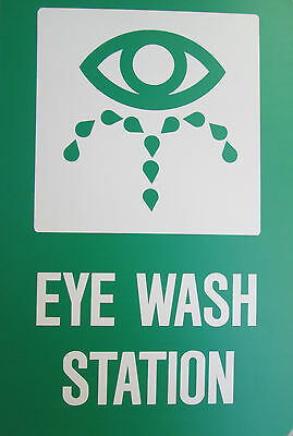 12x18x18 eye wash station sign 2 sided green white - Eye Wash Station Osha