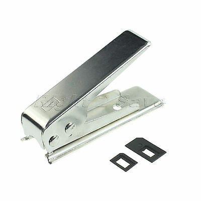 Hot Micro Standard to Nano SIM Card Cutter For Apple iPhone 5G 5th w/ 2 Adapters