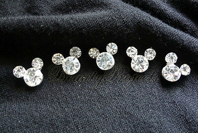 (5)pcs super cute & shiny rhinestones for nail art charms & gel designs NEW B46