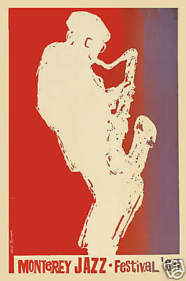 1960's Monterey Jazz Festival Event Concert Poster from 1964