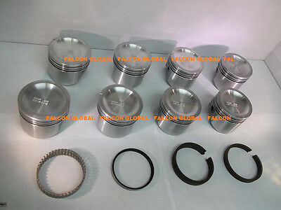 060 Sealed Power//Speed Pro Pontiac 350 Cast Flat Top Pistons+cast Rings Kit