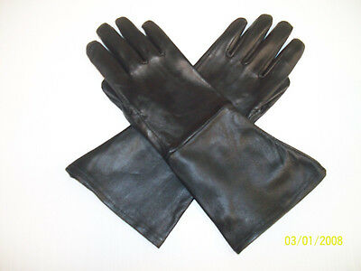 Men's Black Medieval Renaissance Gauntlet Gloves Made In Usa