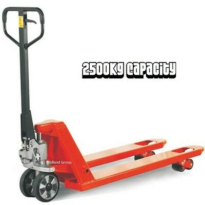 Heavy Duty 2500kg Capacity Hand Pallet Truck - Very High Quality & Very Reliable