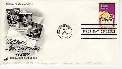 FDC - National letter writing week - Washington - Feb 25th - 1980 - Premier jour