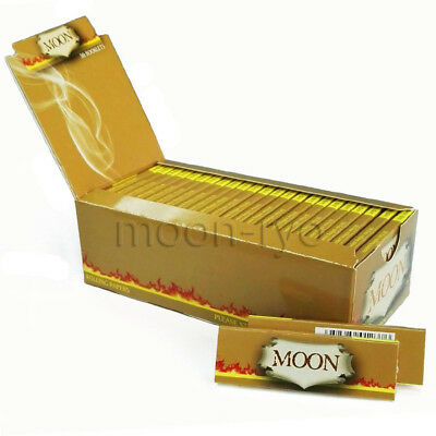 1 box Moon Unbleached Cigarette Rolling Papers 1.0 inch 70*36mm 2500 leaves