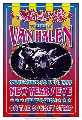 1970's Heavy Metal:  Van Halen at The  Whisky A Go Go L.A.  Concert Poster 1977