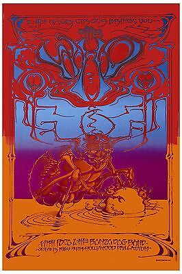 1960's Psychedelic: The Who at the Hollywood Paladium Concert Poster 1969